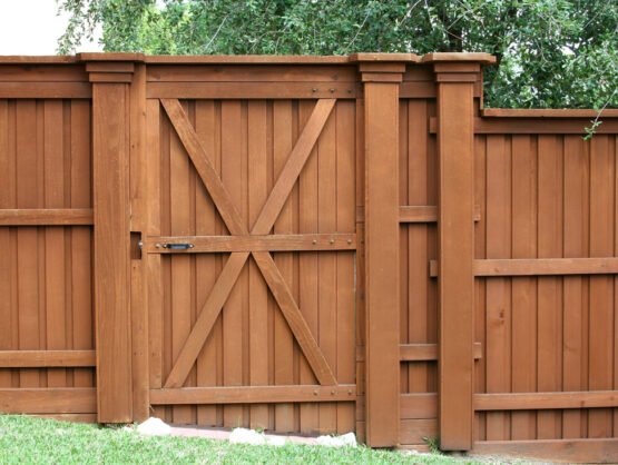wood gate and fence installation