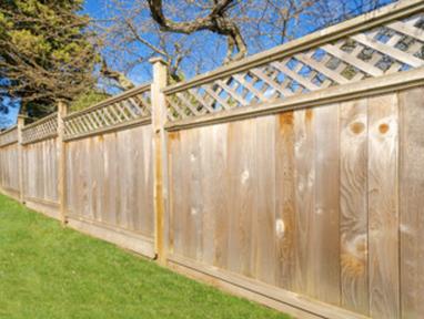 new wood fence installation
